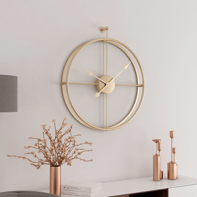 55cm Large Silent Wall Clock Modern Design Clock For Home Decor Office European Style Hanging Wall Watch Clock(Gold) - star-produkte.myshopify.com