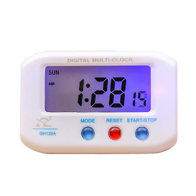 2 PCS Mini Digital Backlight LED Display Table Alarm Clock(White) - Star Produkte