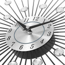 Creative Wall Clock Crystal Silver Wrought Iron Wall Clock Personality Art Decoration Living Room Bedroom Clock - Star Produkte