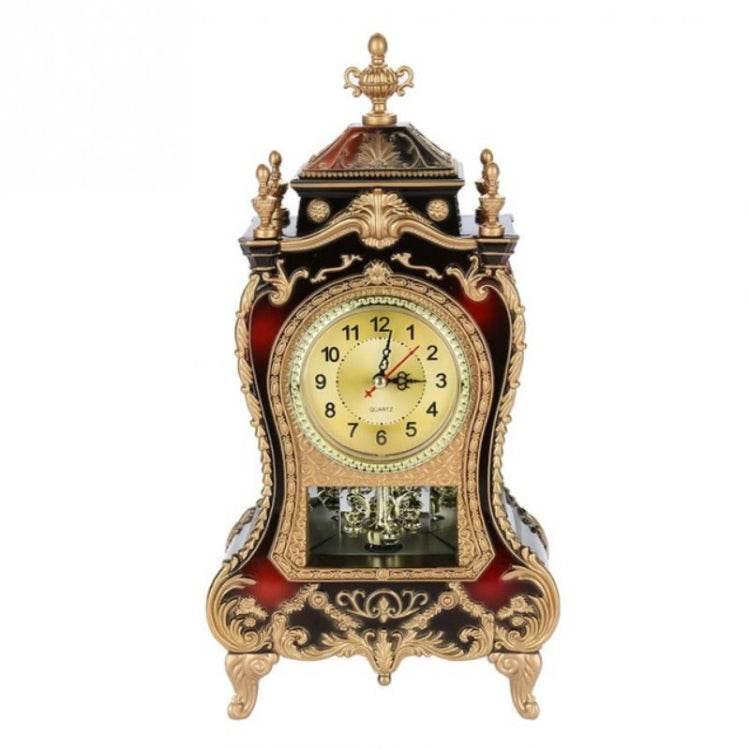 Alarm Clock Vintage Clock Classical Royalty Sitting Room TV Cabinet Desk Imperial Furnishing Creative Sit Pendulum Clock(Brown) - Star Produkte