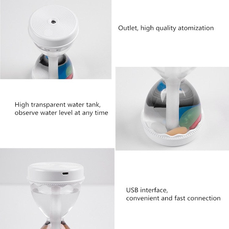 Hourglass Style Colorful Light Air Humidifier USB Car Home Automatic Alcohol Disinfection Spray Air Purifier(Green) - Star Produkte