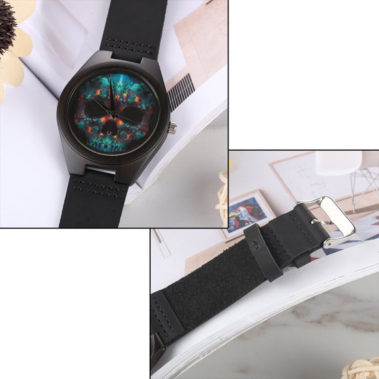 Fashion Personality Round Dial Wooden Shell Watch with Leather Strap - star-produkte.myshopify.com