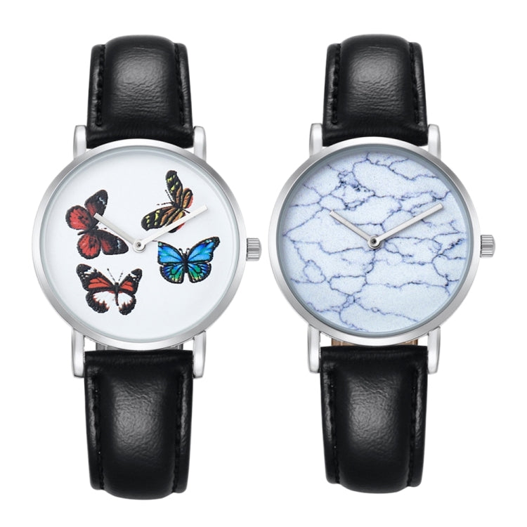 CAGARNY 6812 Round Dial Alloy Silver Case Fashion Women Watch Quartz Watches with PU Leather Band - star-produkte.myshopify.com