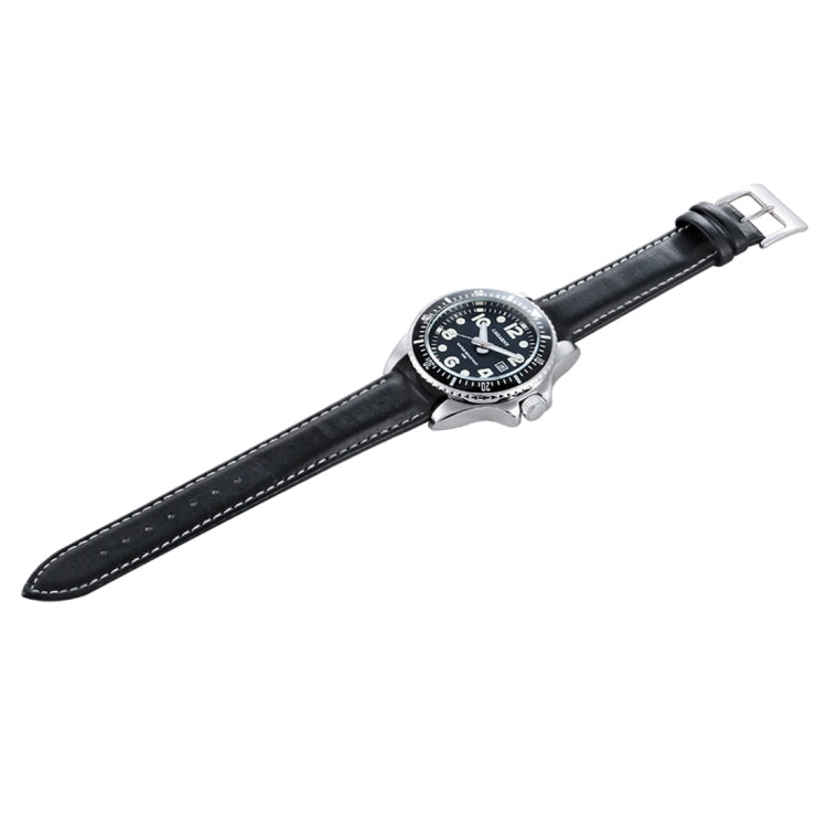 CAGARNY 6863 Fashion Waterproof Quartz Movement Wrist Watch with Leather Band(Black) - star-produkte.myshopify.com