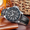 CAGARNY 6863 Fashion Waterproof Quartz Movement Wrist Watch with Leather Band(Black) - Star Produkte