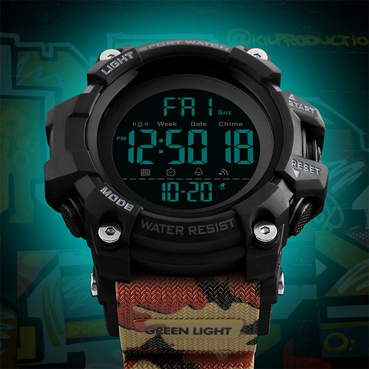 SKMEI 1384 Multifunctional Men Outdoor Fashion Noctilucent Waterproof LED Digital Watch (Army Green) - star-produkte.myshopify.com