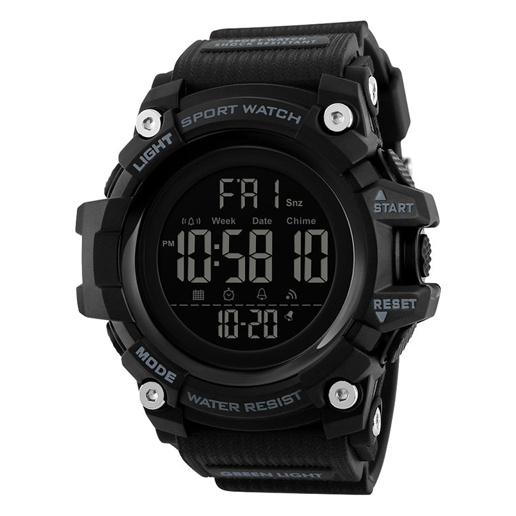 SKMEI 1384 Multifunctional Men Outdoor Fashion Noctilucent Waterproof LED Digital Watch (Black) - star-produkte.myshopify.com