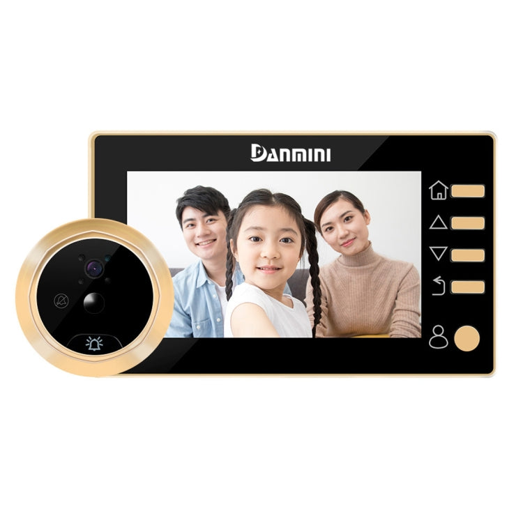 Danmini Q10 4.3 Inch Screen Motion Detection Camera Video Alarm Smart Digital Door Viewer, Support TF Card(Gold) - star-produkte.myshopify.com