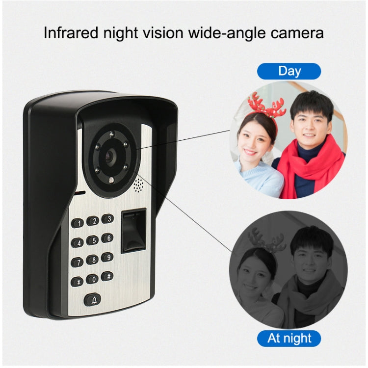 SYSD-806FD11 Rainproof Sunscreen Smart Video Doorbell with 7 inch HD Touch Screen, Support Infrared Night Vision & Password / Fingerprint / Remote Unlocking & Voice Intercom - star-produkte.myshopify.com