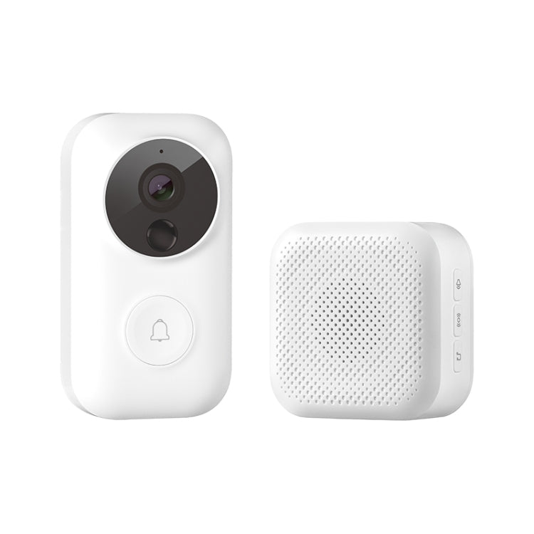 Original Xiaomi Youpin Dingling Smart WIFI Video Visual Doorbell with Doorbell Receiver, Support Infrared Night Vision & Change Voice Intercom & Real-time Video Viewing(White) - star-produkte.myshopify.com