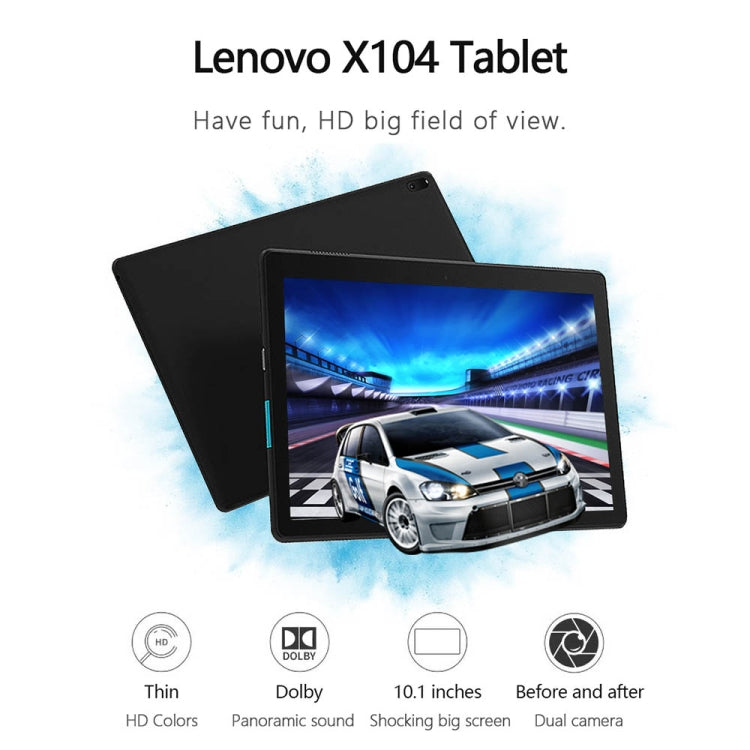 Lenovo E10 TB-X104F, 10.1 inch,  2GB+16GB, Android 8.1 Qualcomm MSM8909 Quad Core 1.3GHz,  Support WiFi & Bluetooth & GPS & G-sensor(Black) - star-produkte.myshopify.com