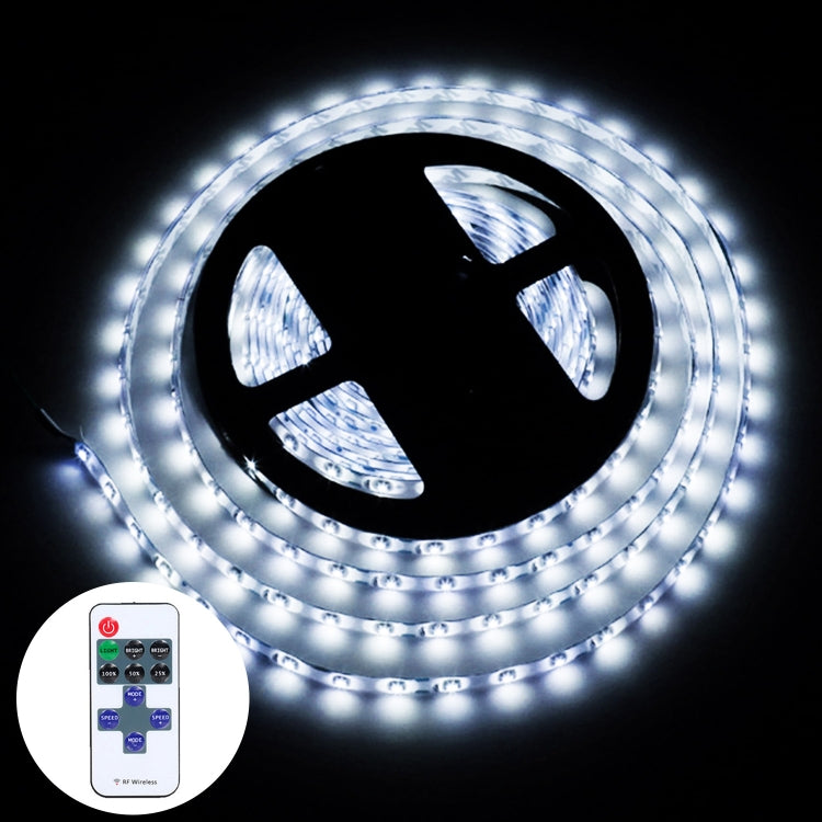 YWXLLight Dimmable Light Strip Kit, SMD 2835 5m LED Ribbon, Waterproof for Indoor , 11key Remote Control LED Strip Lamp 300LEDs US Plug (Cold white) - star-produkte.myshopify.com