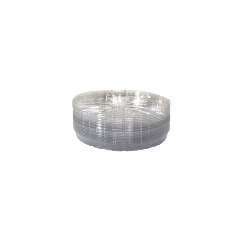 "Saucer 14"" Clear Plastic"