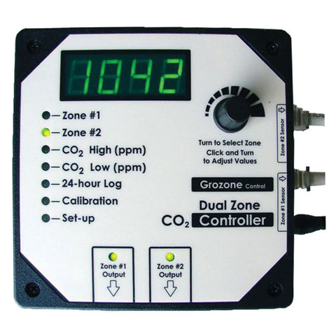 GROZONE CO2D DUAL ZONE CO2 CONTROLLER 0-5000 PPM