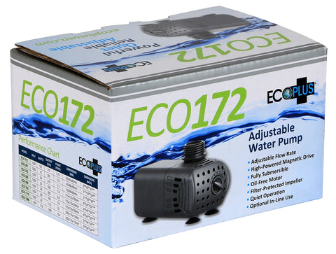 EcoPlus® Adjustable Flow Submersible or Inline Water Pumps