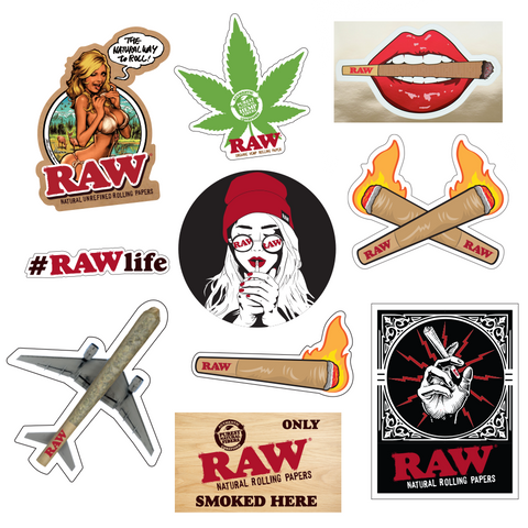RAW STICKERS – 10 PACK