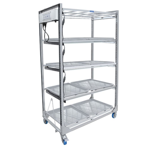Wachsen Cloning Cart 4 Level SS304 W / Fluence LED Lighting