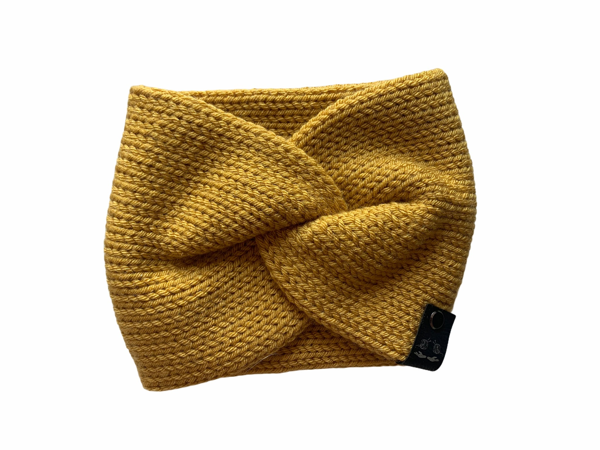Twisted Knitted Earwarmer | Mustard