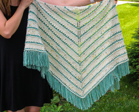 KNITTING PATTERN | The Snow Covered Pines Shawl
