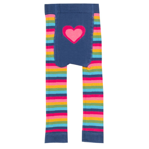 Stripy heart knit leggings