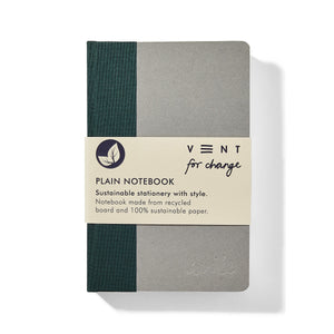 Recycled Board A6 Plain Notebook – Green spine