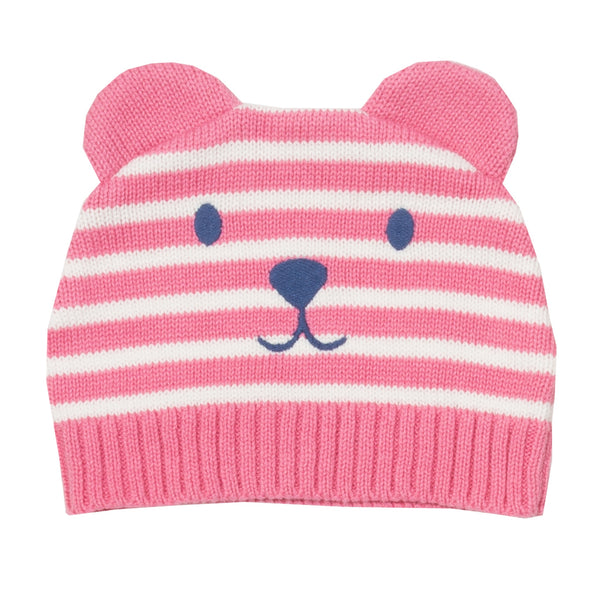 Teddy knit hat rose