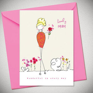 BB Lovely Mum - card