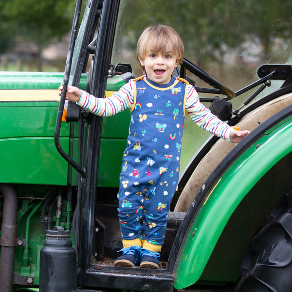 Farm play dungarees