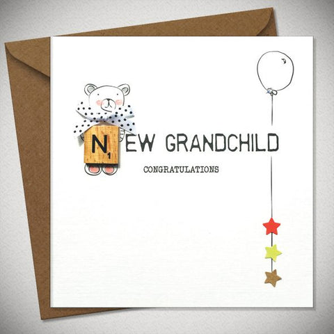 BB New Grandchild - Congratulations - card