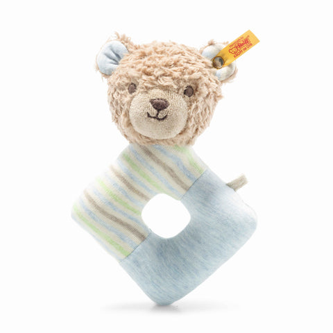 Rudy Teddy bear grip toy with rattle