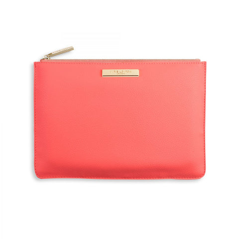 Pebble Perfect Pouch - Coral