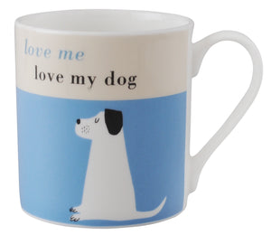 Happiness Dog Mug - Turquoise