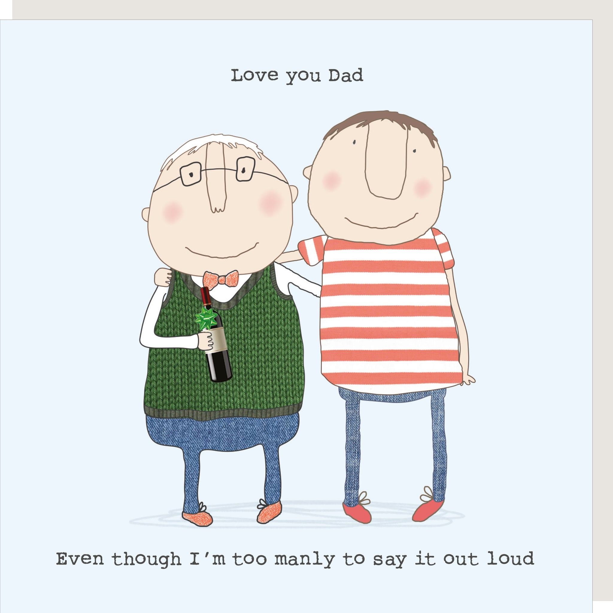 Manly Dad Love - Card