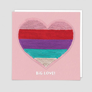 Heart - sequin - card