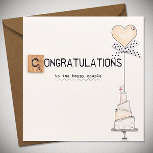 BB Congratulations - To The Happy Couple - card