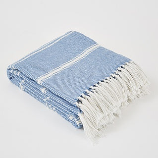 Oxford Striped Blanket - Capri