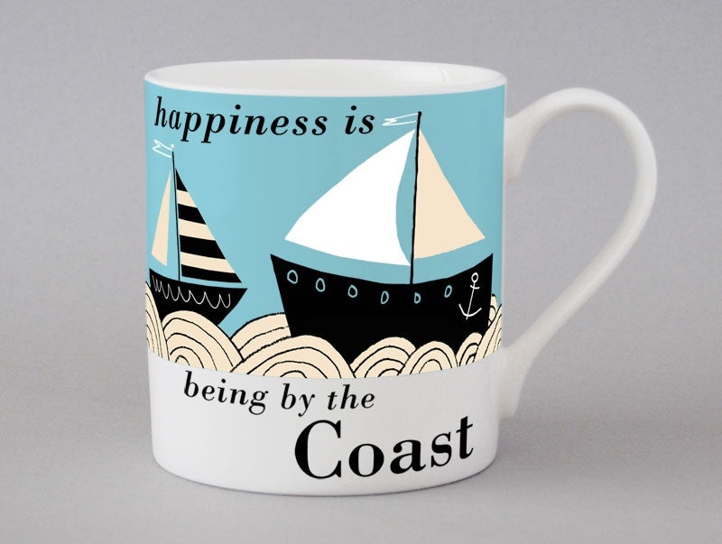 Country & Coast Boat Mug - Blue
