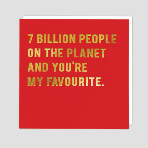 7 Billion - Card