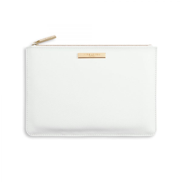 Pebble Perfect Pouch - White