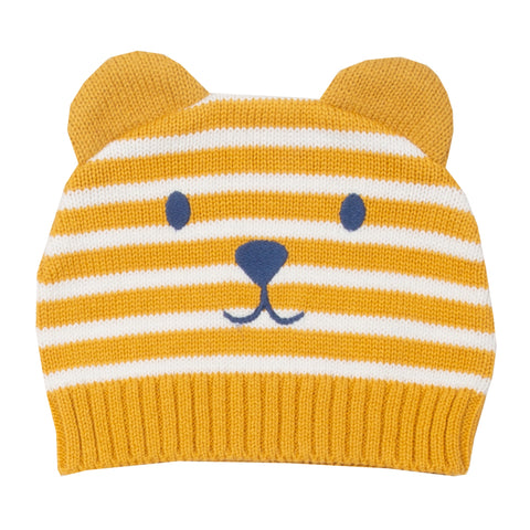 Teddy knit hat mustard