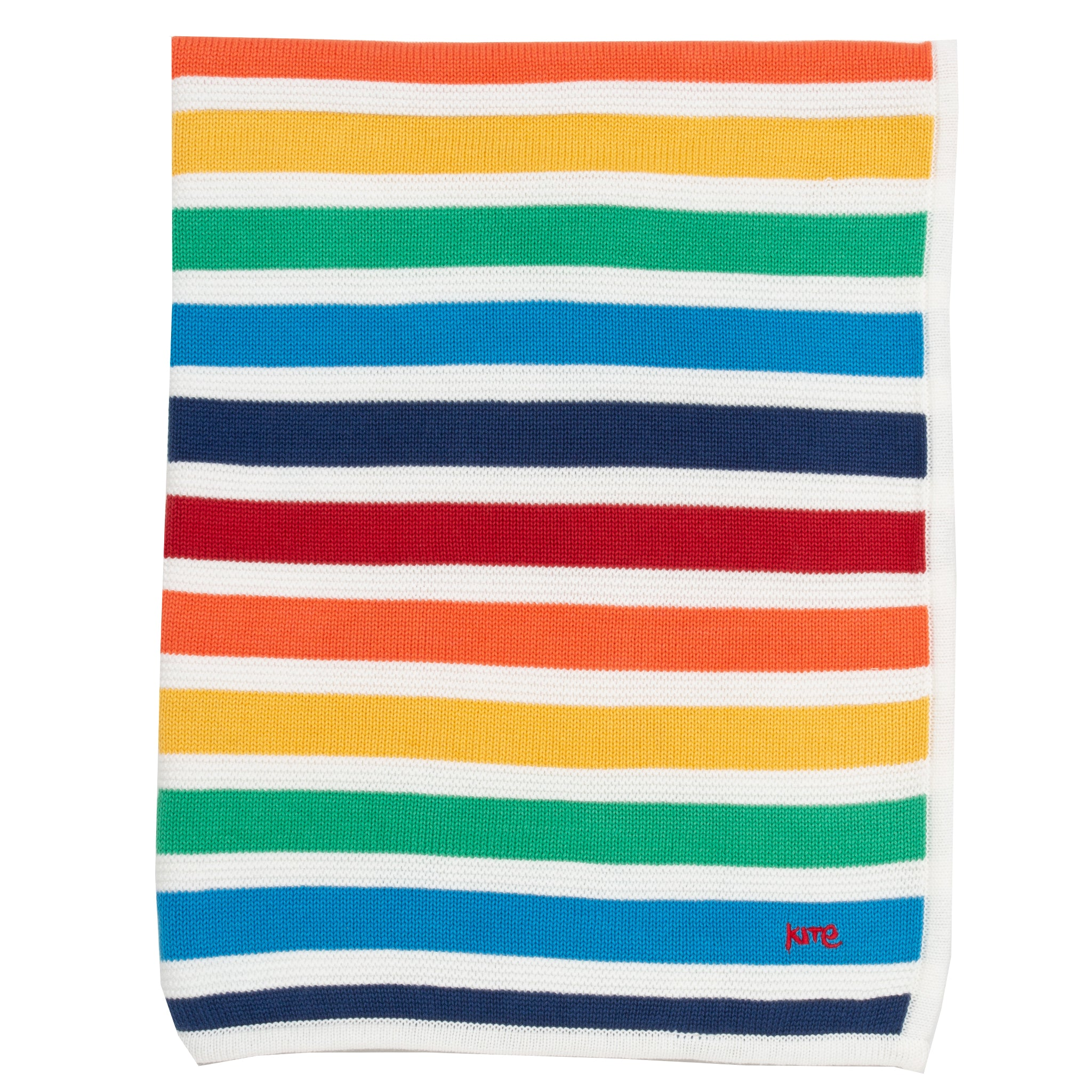 Kite Rainbow knit blanket