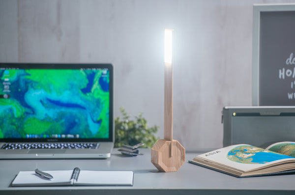 Octagon One Desk Lamp - Maple