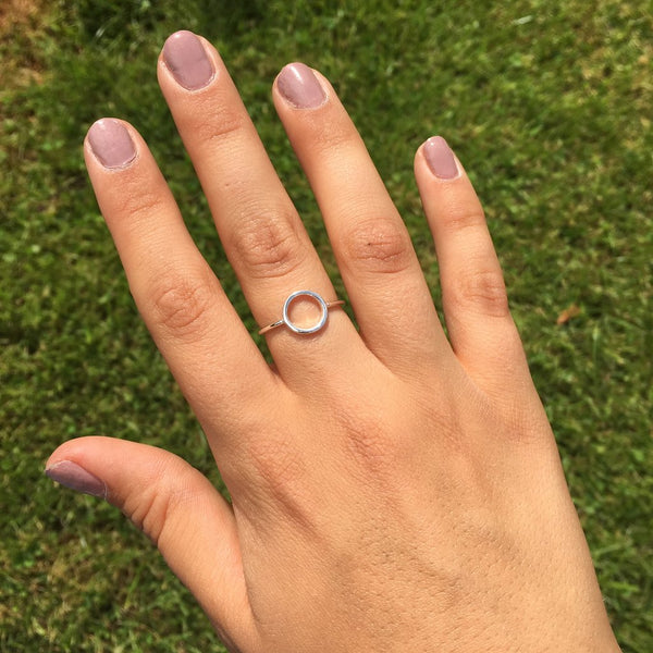 Halo Silver Ring