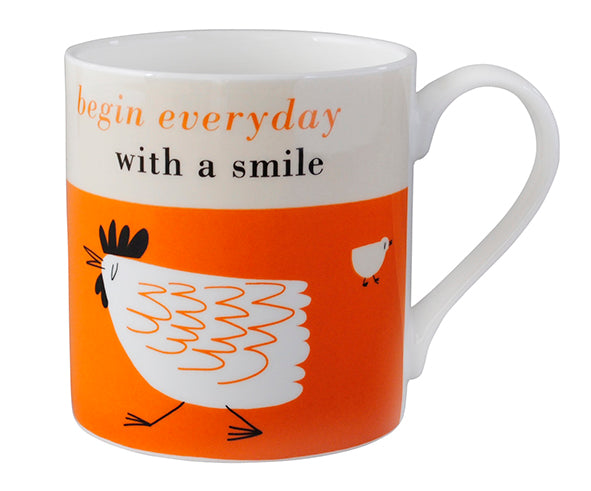 Happiness Chicken Mug - Orange