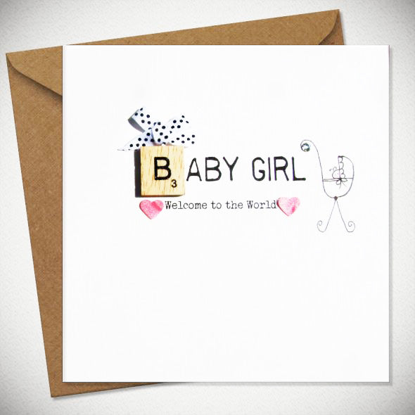 BB Baby Girl - card