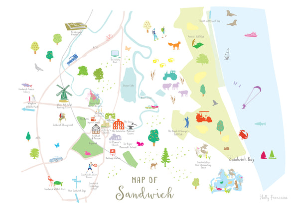 Map of Sandwich Print