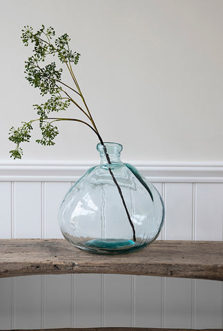 Wells Recycled Glass Vase, Wide