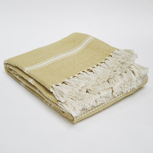 Oxford Striped Blanket - Gooseberry