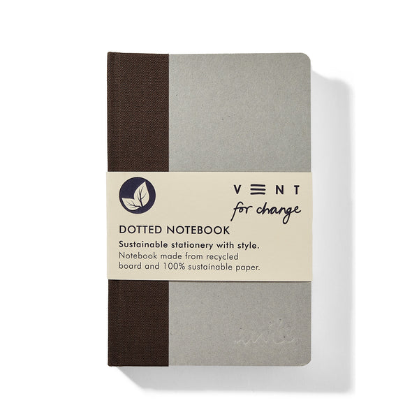 Recycled Board A6 Dots Notebook – Brown spine
