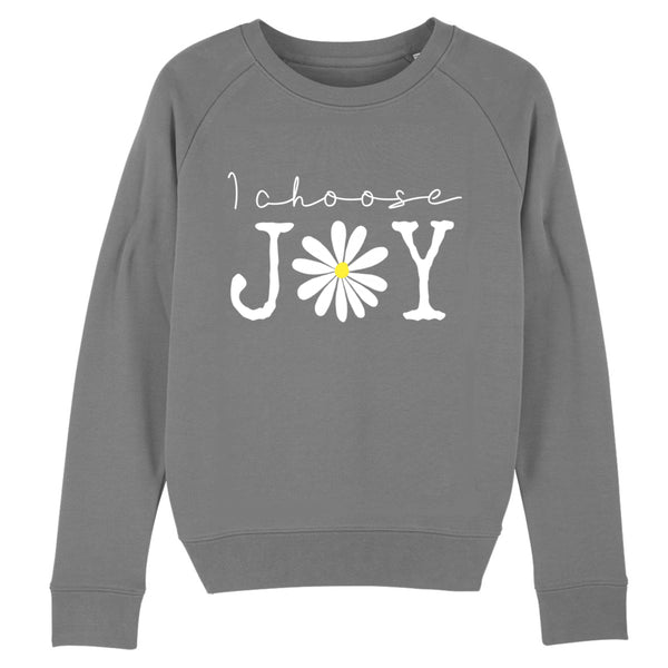 I choose joy sweater - grey